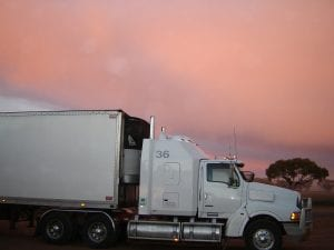 a large truck with cargo