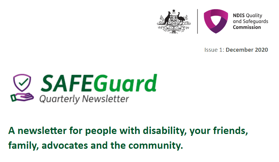 New eNewsletter for NDIS participants – SafeGuard